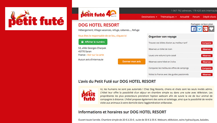 Le Petit Futé donne son avis sur le DOG HOTEL RESORT